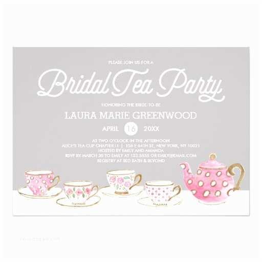 Bridal Tea Party Invitations Chic Bridal Tea Party Bridal Shower Invitation