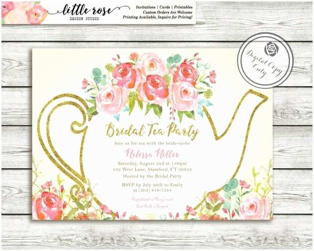 Bridal Tea Party Invitations Garden Shower Invitation High