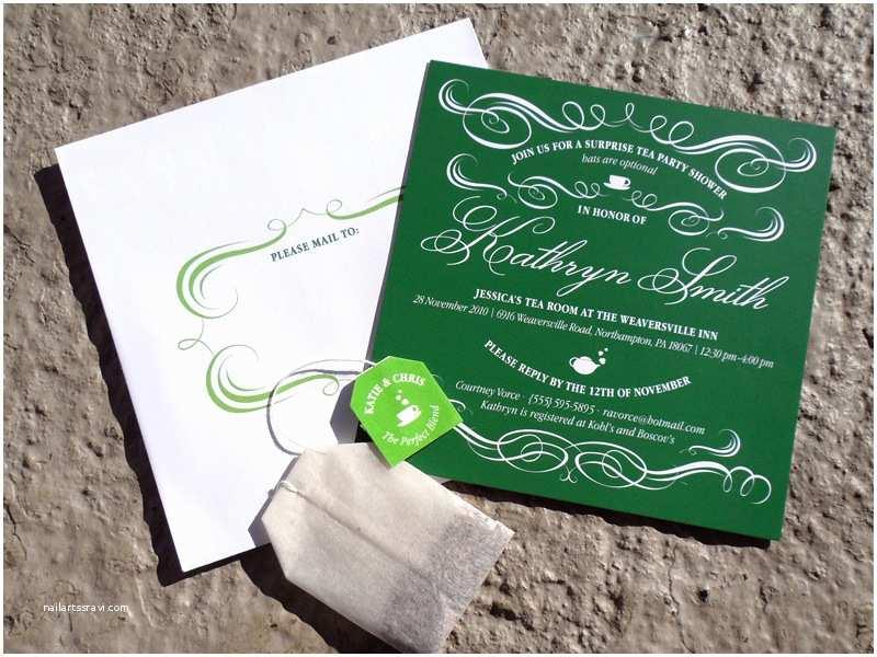 Bridal Tea Party Invitations Vintage Inspired Tea Party Bridal Shower Invitations