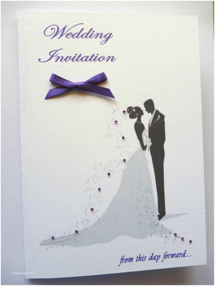 Bride and Groom Wedding Invitations 10 Beautiful Personalised Wedding Invitations Silhouette