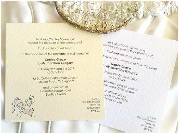bride and groom square flat wedding invitations