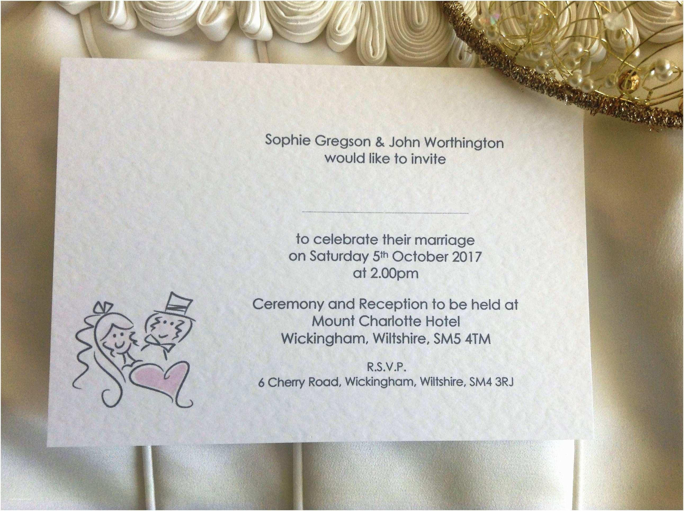 Bride and Groom Wedding Invitations Bride and Groom Postcard Wedding Invitations