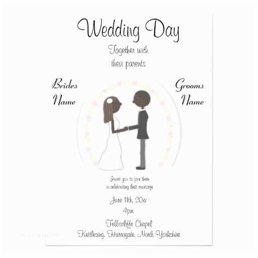 Bride and Groom Wedding Invitations Bride and Groom Wedding Invitation 13 Cm X 18 Cm