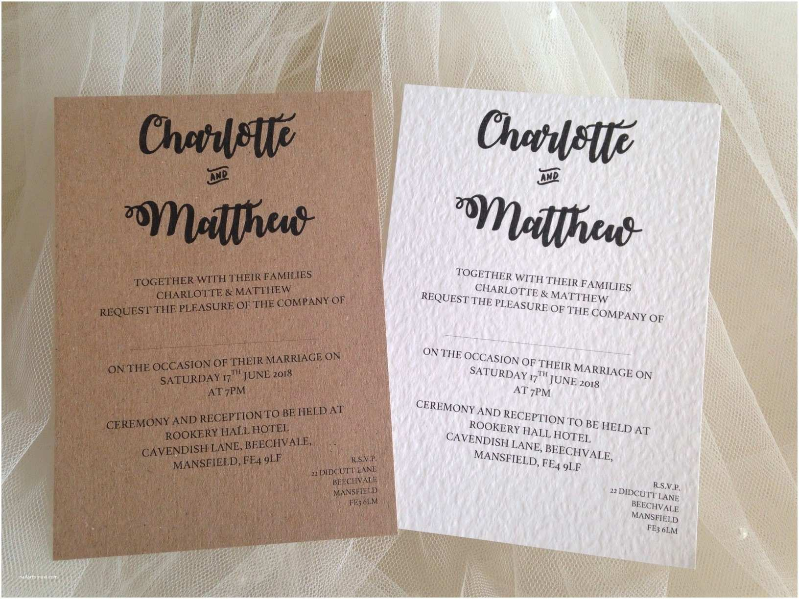 Bride and Groom Wedding Invitations Bride and Grooms Names Wedding Invitations