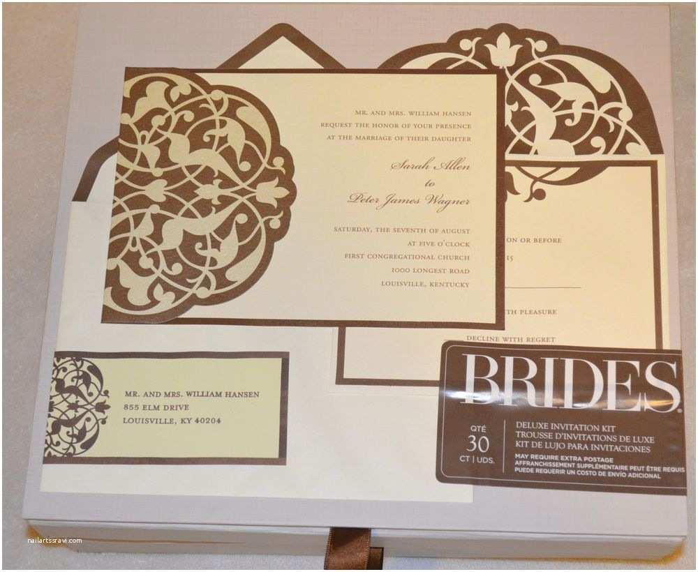 Brides Wedding Invitation Kits Brides Deluxe Wedding Invitation Kit 30 Counts T Brown