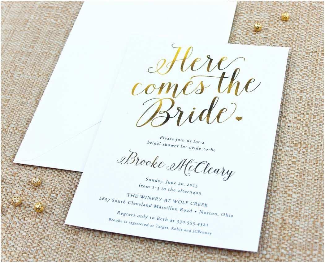 Brides Wedding Invitations Bridal Shower Invitations Custom Bridal Shower
