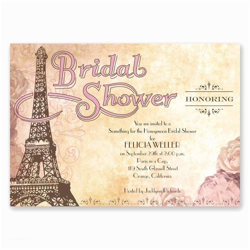 Brides Wedding Invitations Eiffel tower Bridal Shower Invitation