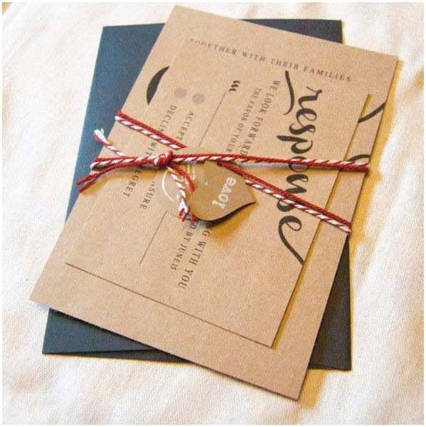 Brown Invitations Wedding 127 Best Kraft Brown Paper Wedding Stationery Images On