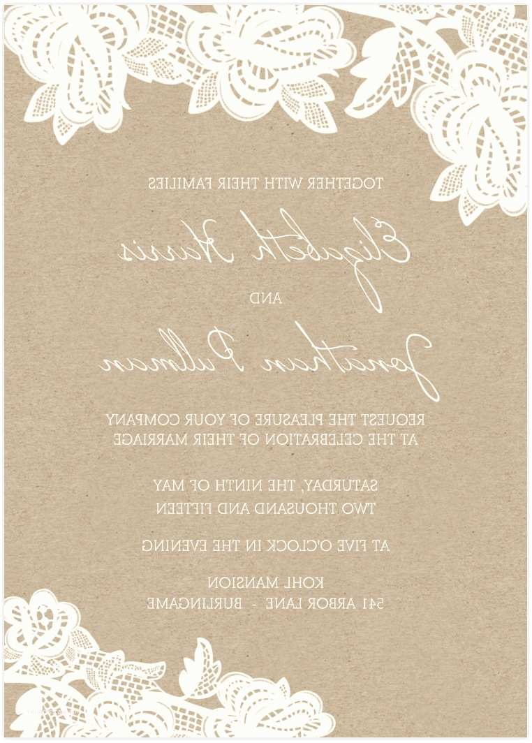 Brown Invitations Wedding Brown Background Rustic Font Printable Wedding Invitation