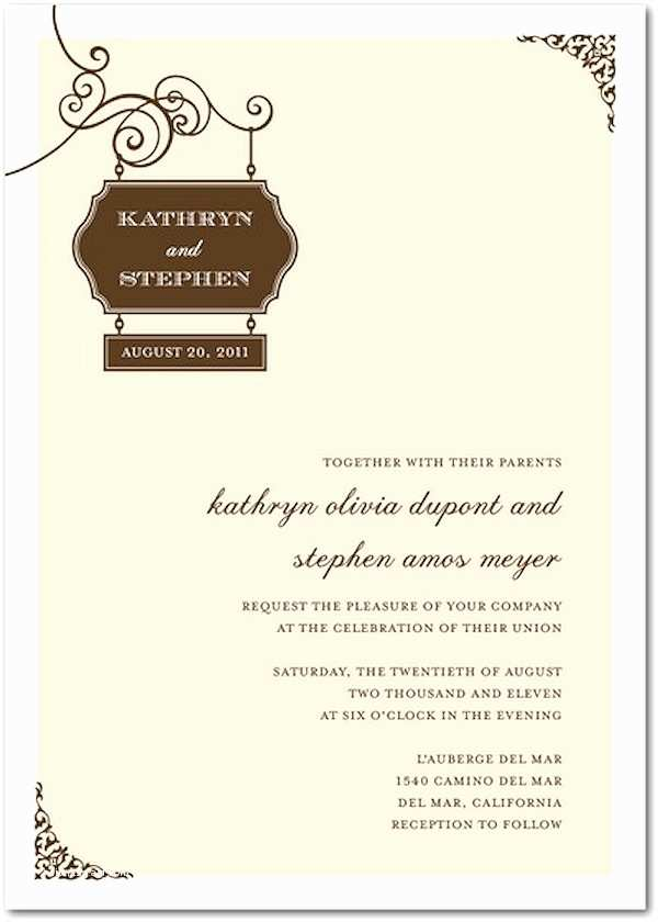 Brown Invitations Wedding Brown Wedding Invitation Sets Bitsy Bride