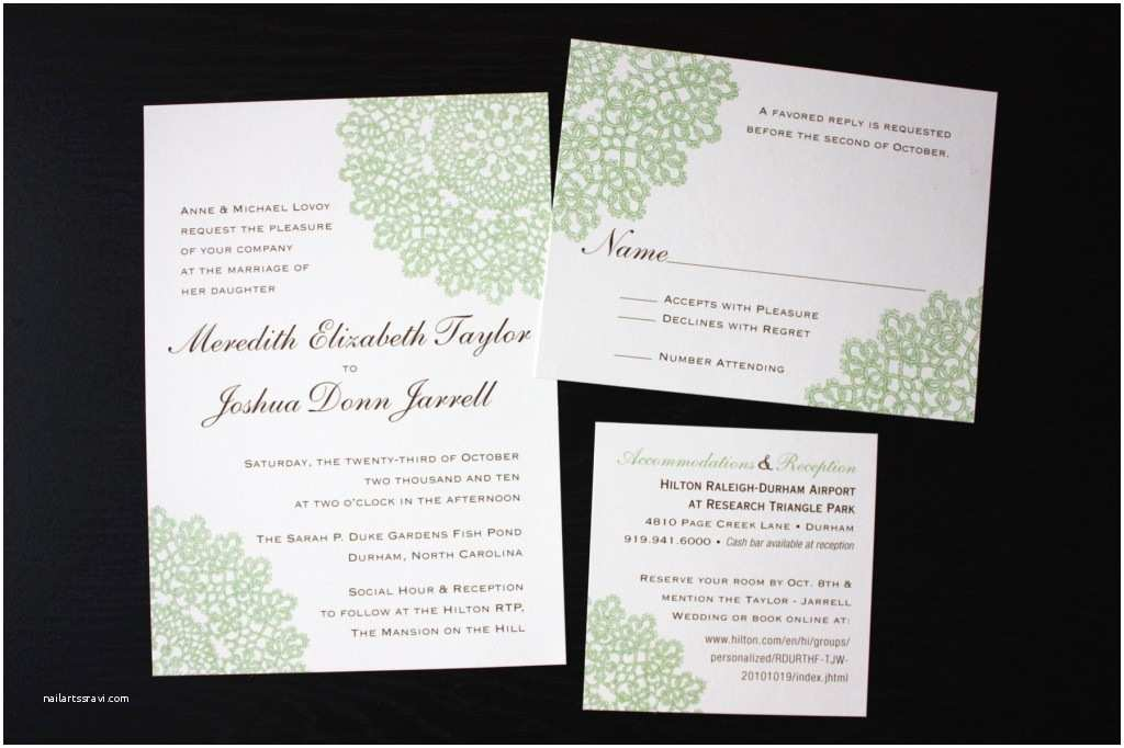 Brown Invitations Wedding Chocolate Brown and Green Lace Wedding Invitations