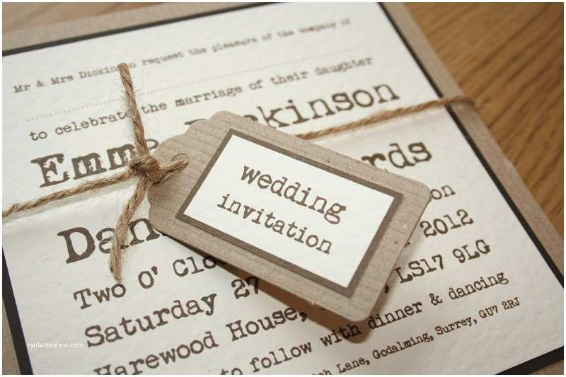 Brown Invitations Wedding Choosing Your Wedding Invitations and Stationery Fennes