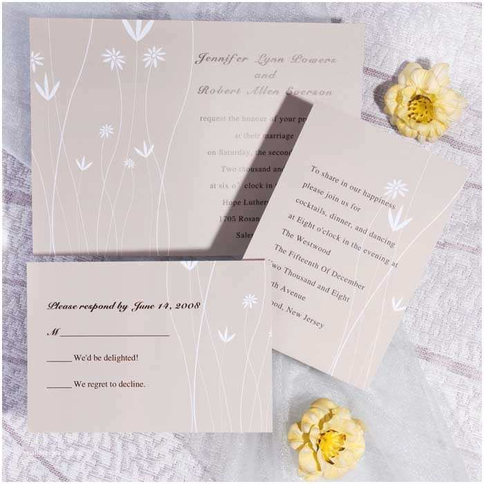 Brown Invitations Wedding Printable Simple Floral Wedding Invitations Ewi182 as Low