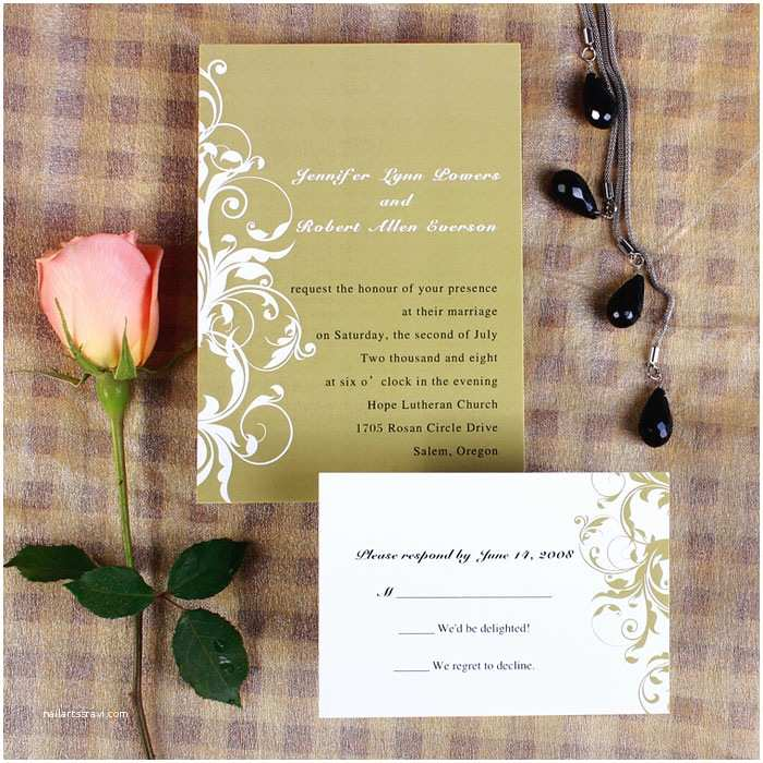 Brown Invitations Wedding Vintage White and Brown Damask Fall Wedding Invitations