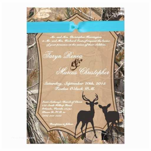 5x7 hunting pair deer doe buck wedding invitation