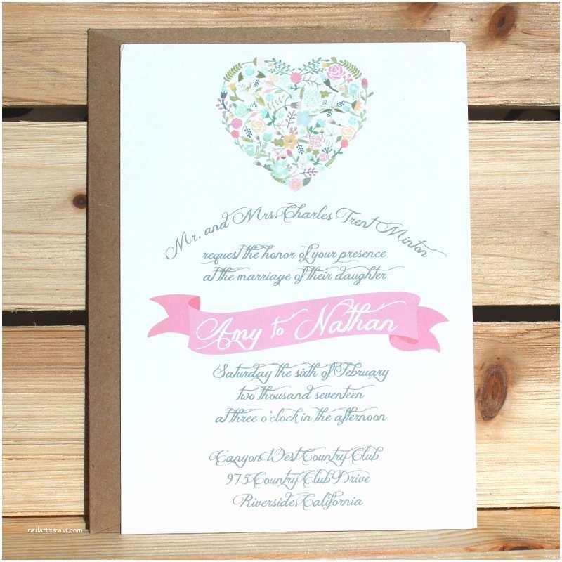 Browning Wedding Invitations Heart Wedding Invitations Lovely Wedding Invitations Two