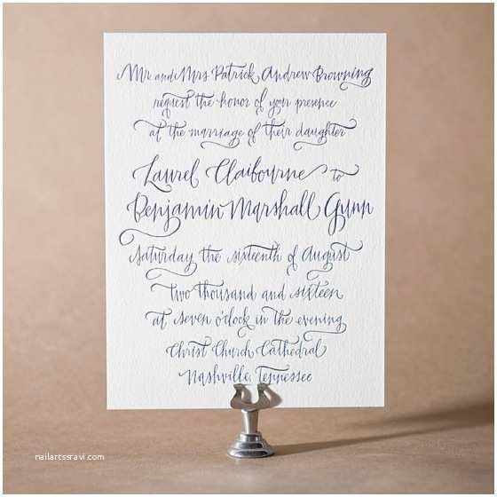 Browning Wedding Invitations Letterpress Wedding Invitations Tailored Design