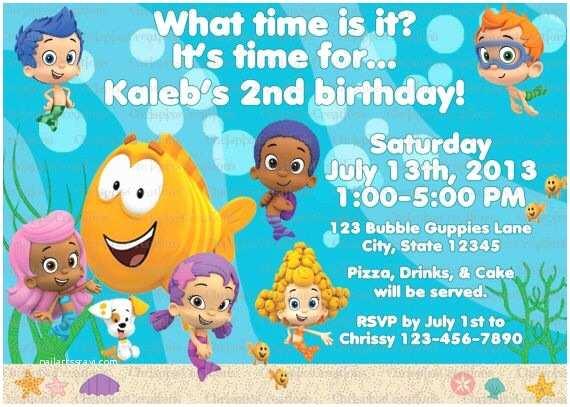 Bubble Guppies Birthday Invitations 54 Best 1st Birthday Images On Pinterest