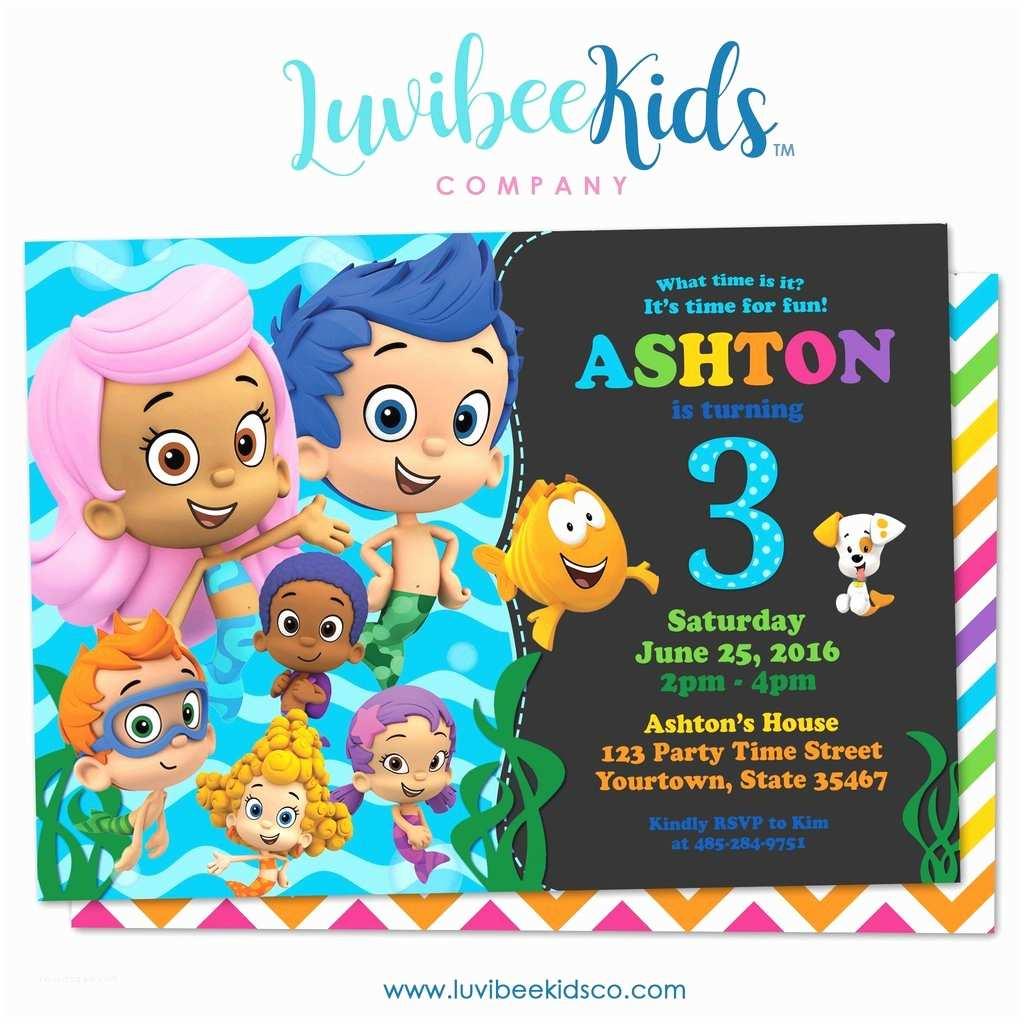 Bubble Guppies Birthday Invitations Bubble Guppies Birthday Invitation