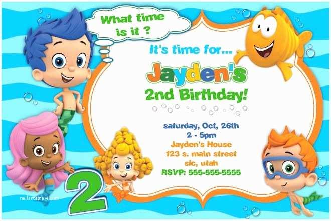 Bubble Guppies Birthday Invitations Bubble Guppies Birthday Invitations Ideas – Bagvania Free