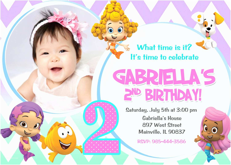 Bubble Guppies Birthday Invitations Bubble Guppies Birthday Party Invitation Digital File