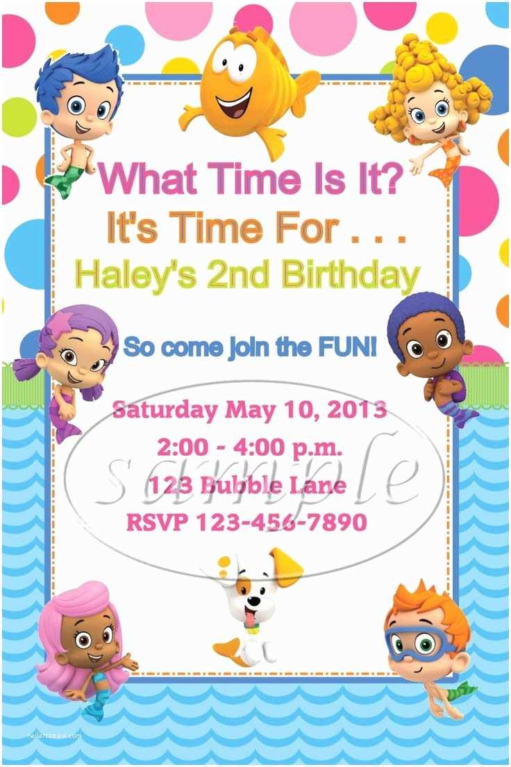 Bubble Guppies Birthday Invitations Bubble Guppies Birthday Party Invitations by