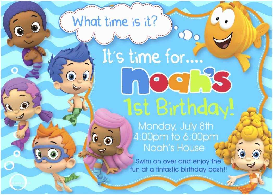 Bubble Guppies Birthday Invitations Bubble Guppies Birthday Party Invitations