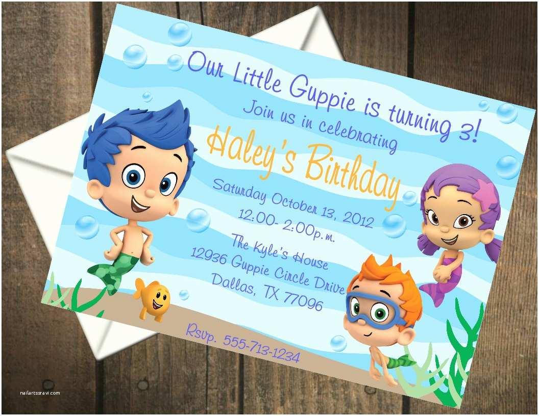 Bubble Guppies Birthday Invitations Bubble Guppies Birthday Party Printable Invitation