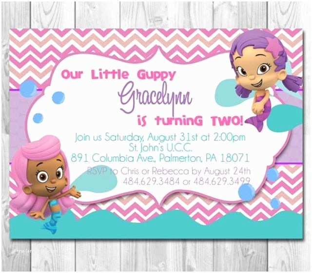 Bubble Guppies Birthday Invitations Bubble Guppies Invitation