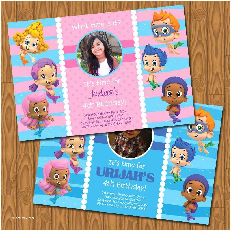 Bubble Guppies Birthday Invitations Bubble Guppies Party Invitations by Jayarmada On Etsy