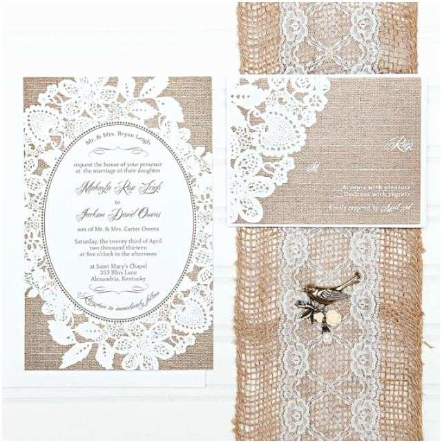 Budget Wedding Invites Burlap and Lace Wedding Invitations Bud Invitation