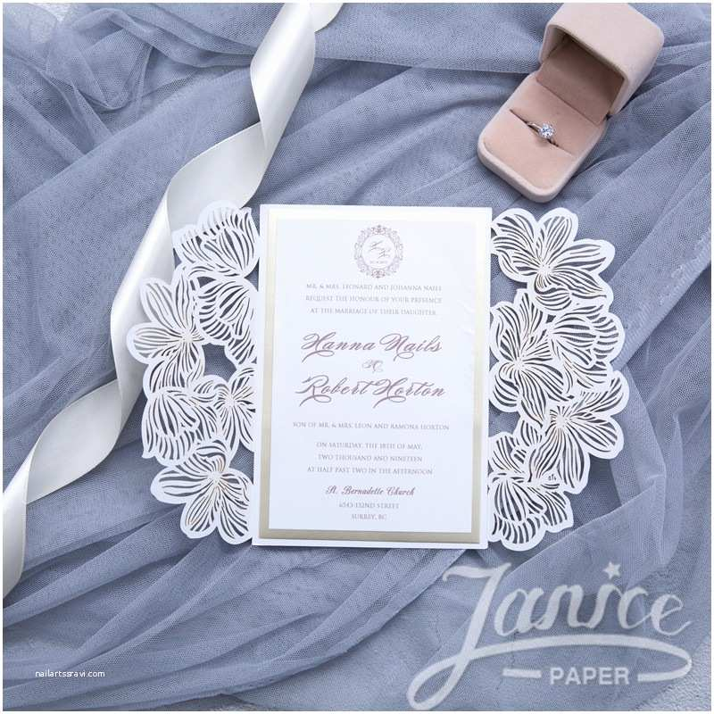 Bulk Wedding Invitations Exquisite Flower Laser Cut wholesale Pocket Wedding