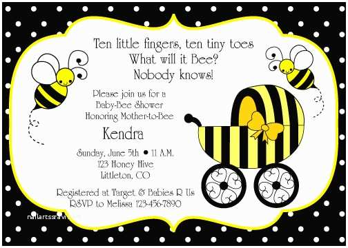 Bumble Bee Baby Shower Invitations Bumble Bee Baby Shower Invitation