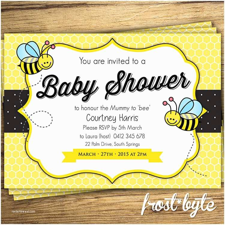 Bumble Bee Baby Shower Invitations Bumblebee Baby Shower Ideas Baby Ideas