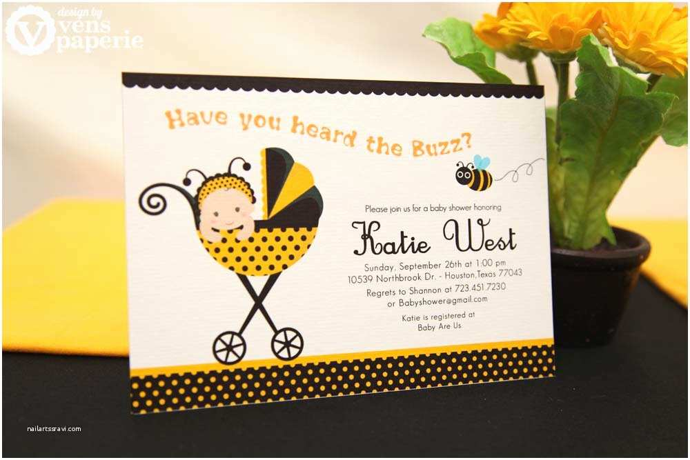 Bumble Bee Baby Shower Invitations Diy Printable Invitation Card Bumble Bee Baby Shower