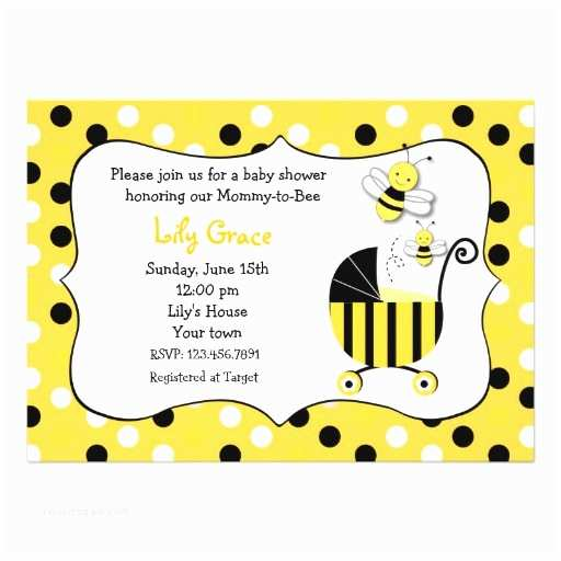 Bumble Bee Baby Shower Invitations Personalized Bumble Bee Baby Invitations