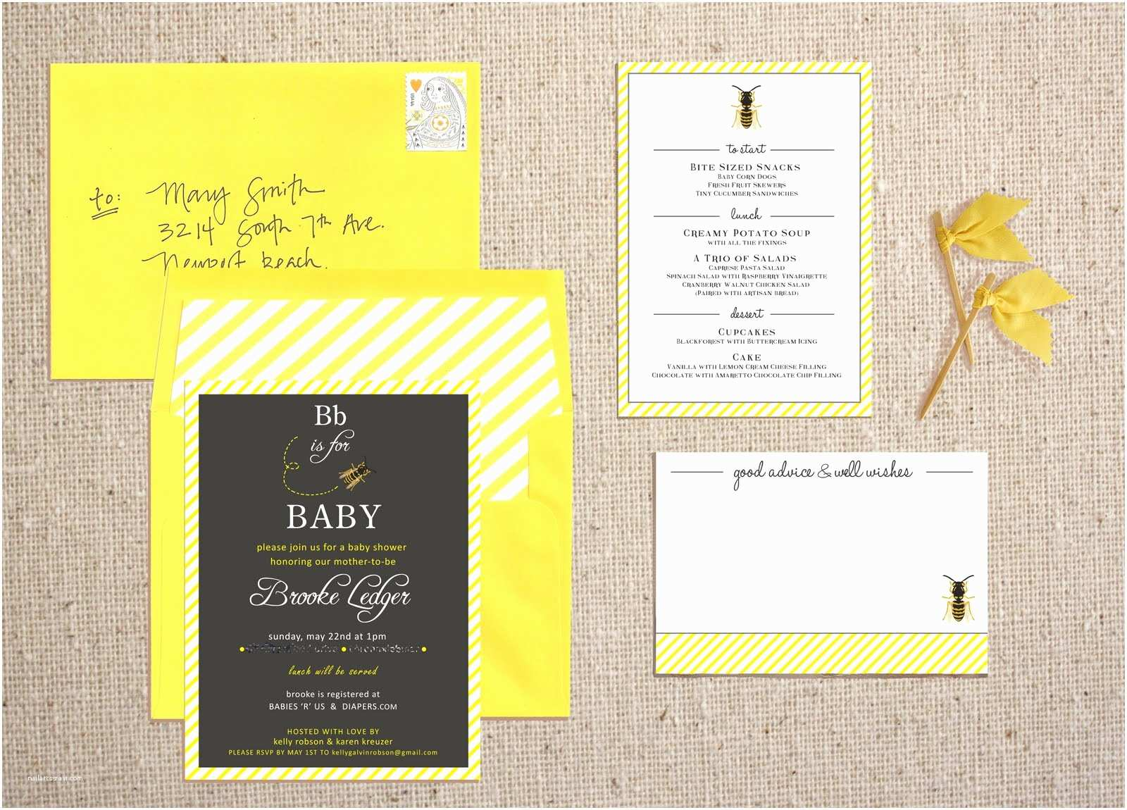 Bumble Bee Baby Shower Invitations Template Bumble Bee Baby Shower Invitations Wording