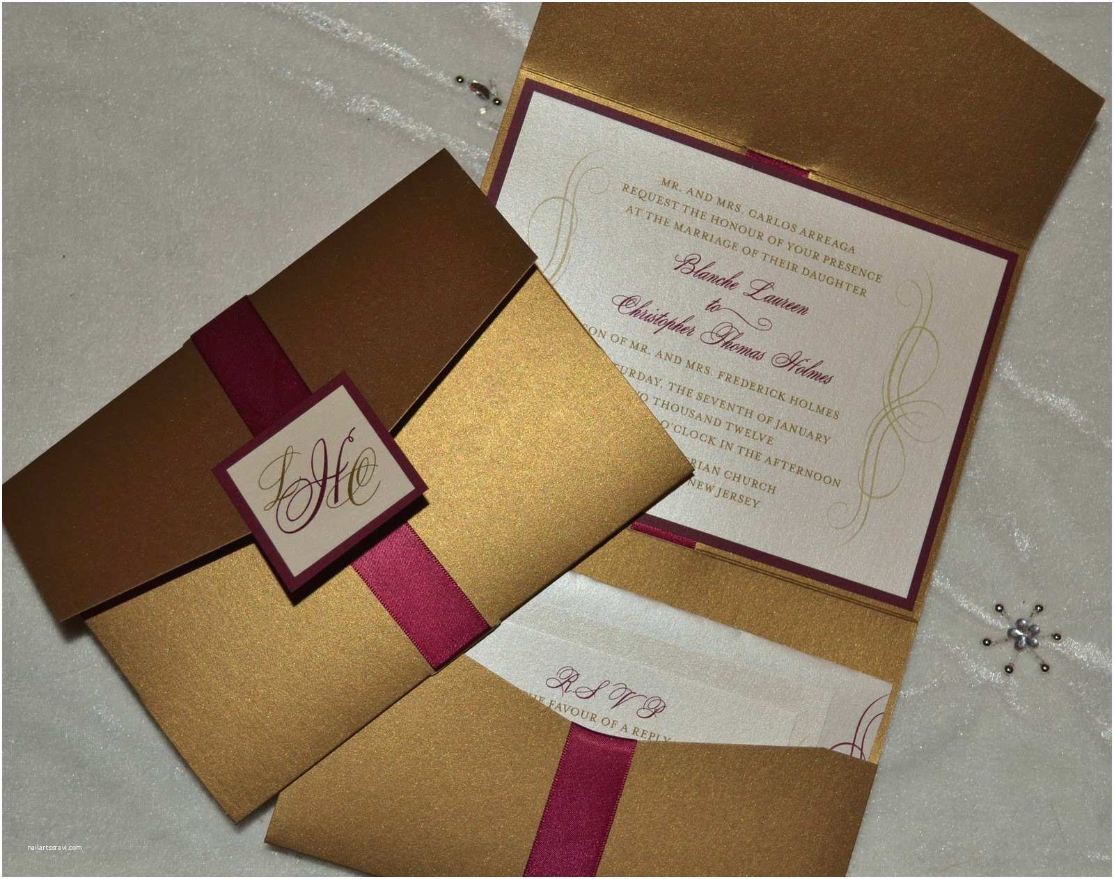 Burgundy and Gold Wedding Invitations Jar Of Ideas Laureen & Chris Gold and Burgundy Wedding