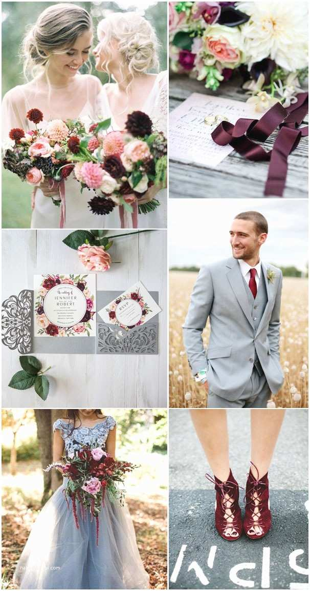 Burgundy and Gray Wedding Invitations 5 Most Stunning Wedding Colors with Matching Invitations