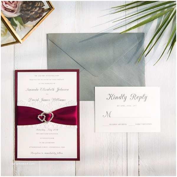 Burgundy and Gray Wedding Invitations Shop Your Unique Wedding Invitations Line