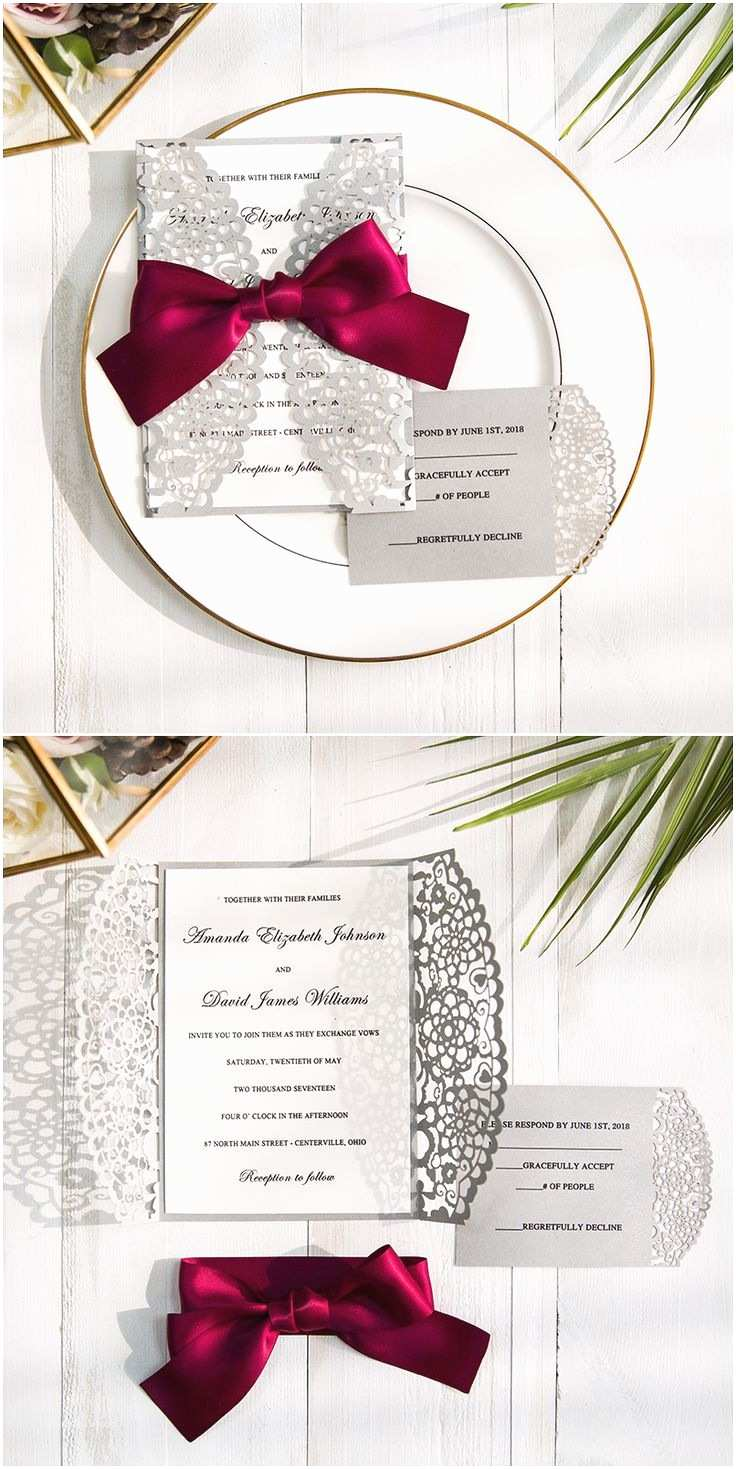 Burgundy and Grey Wedding Invitations 135 Best Images About Stylish Wedding Ideas On Pinterest