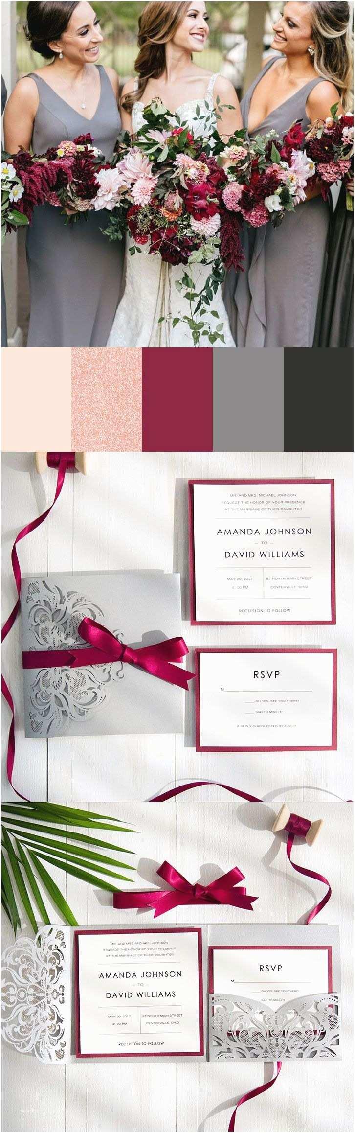 Burgundy and Grey Wedding Invitations Best 25 Burgundy Bouquet Ideas On Pinterest