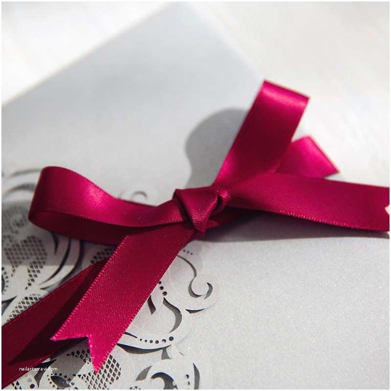 Burgundy and Grey Wedding Invitations Burgundy and Gray Elegant Laser Cut Pocket Wedding