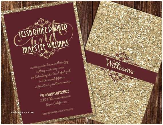 Burgundy and Grey Wedding Invitations Champagne and Burgundy Wedding Invitations by