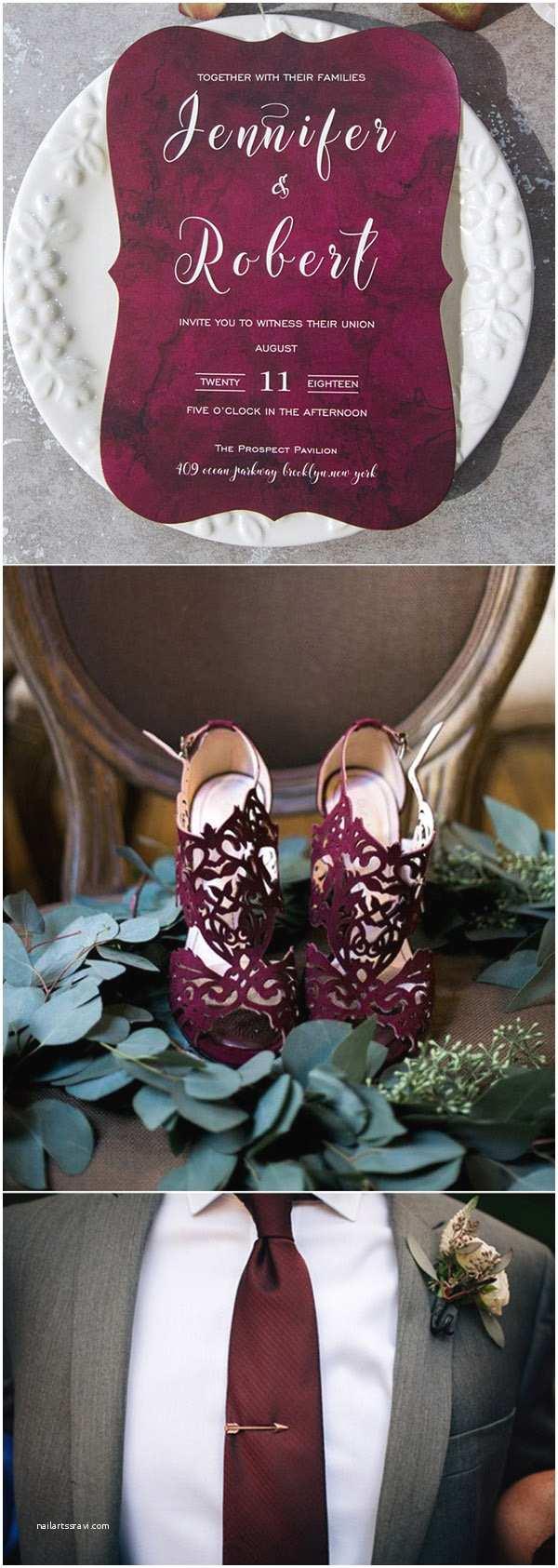 Burgundy and Grey Wedding Invitations Elegantweddinginvites Blog – Elegant Wedding Invitations