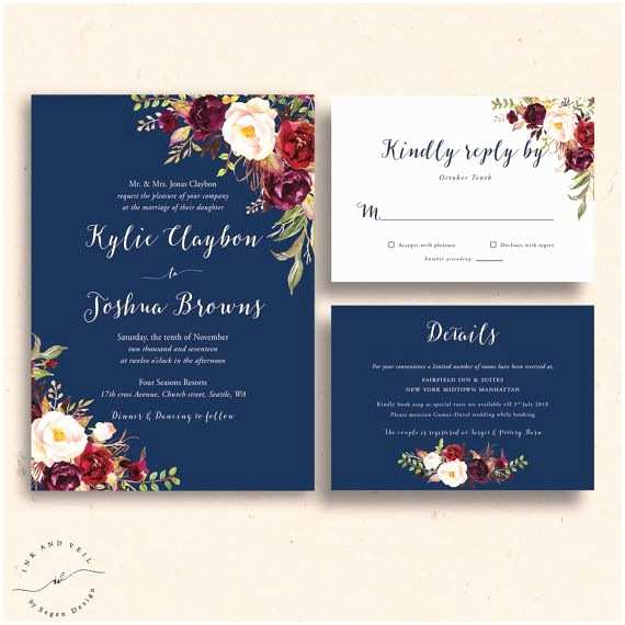 Burgundy And Navy Wedding Invitations 25 Best Ideas About Fall Wedding Invitations On