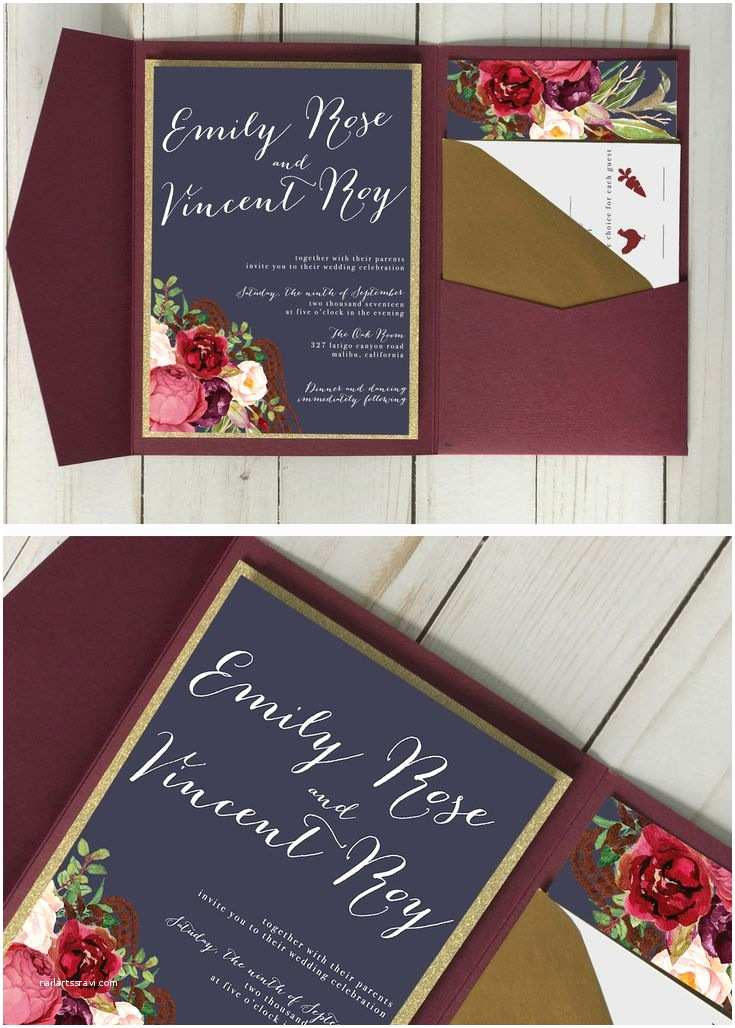 Burgundy And Navy Wedding Invitations 25 Best Ideas About Merlot Wedding On