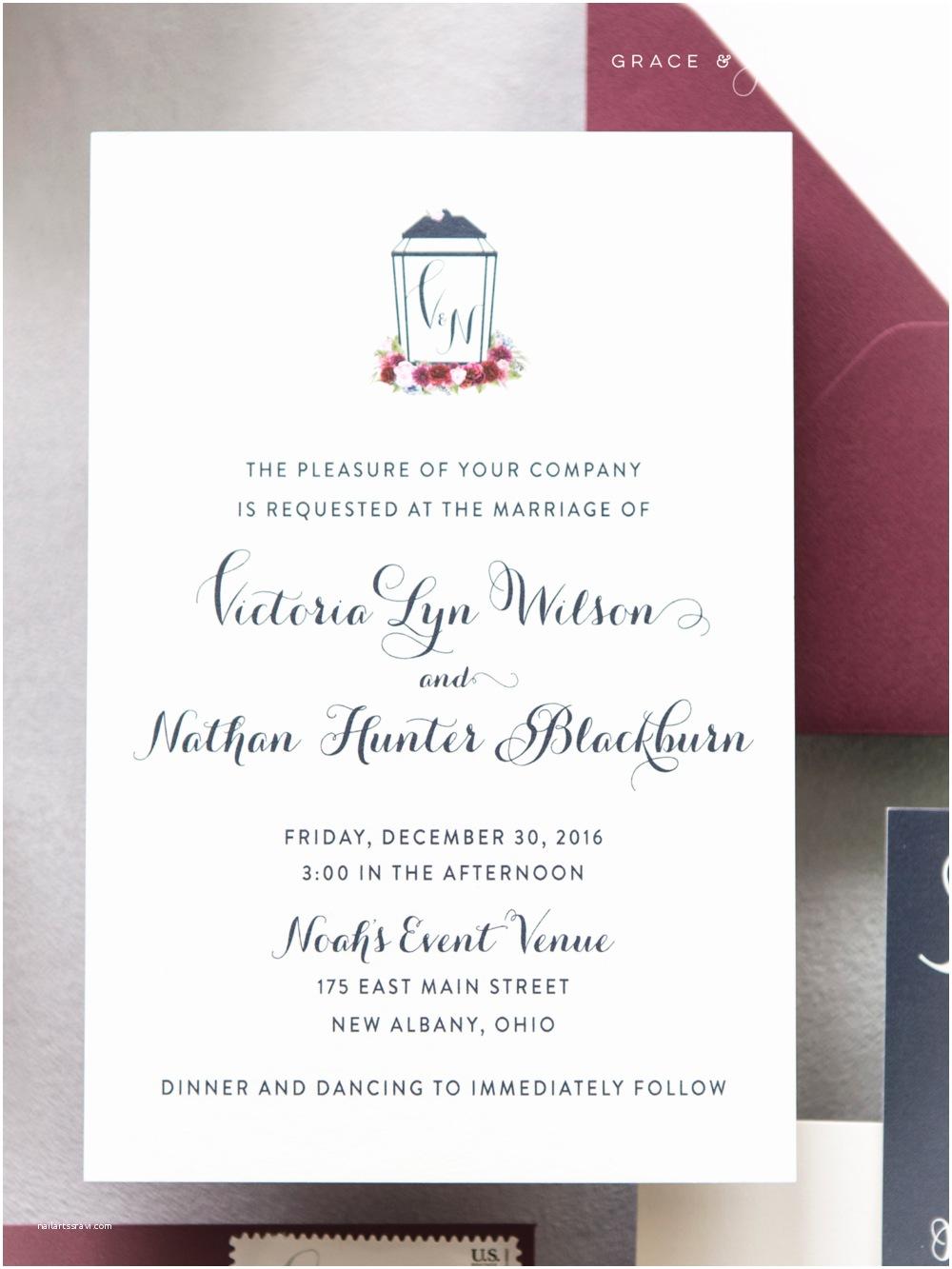 Burgundy  Navy Wedding Invitations Bespoke Invitation Design Victoria  Nathan S Navy