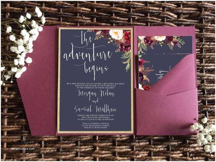 Burgundy And Navy Wedding Invitations Best 25 Merlot Wedding Ideas On