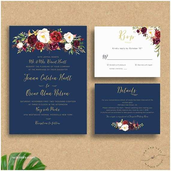 Burgundy And Navy Wedding Invitations Best 25 Navy Gold Weddings Ideas On